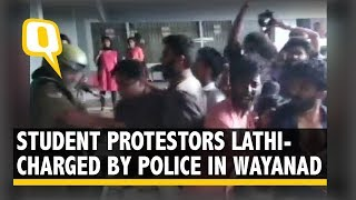 Students, Cops Clash at Protests Over Wayanad Girl's Death by Snakebite | The Quint