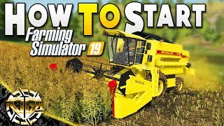 FIRST LOOK : HOW TO START YOUR FARM : Farming Simulator 19 Gameplay : Ravenport EP 1