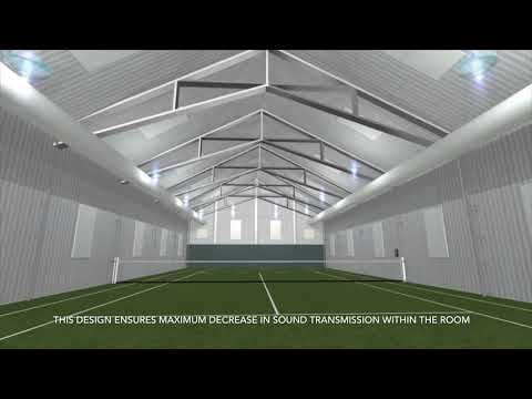 Indoor Tennis Court   Acoustic Treatment