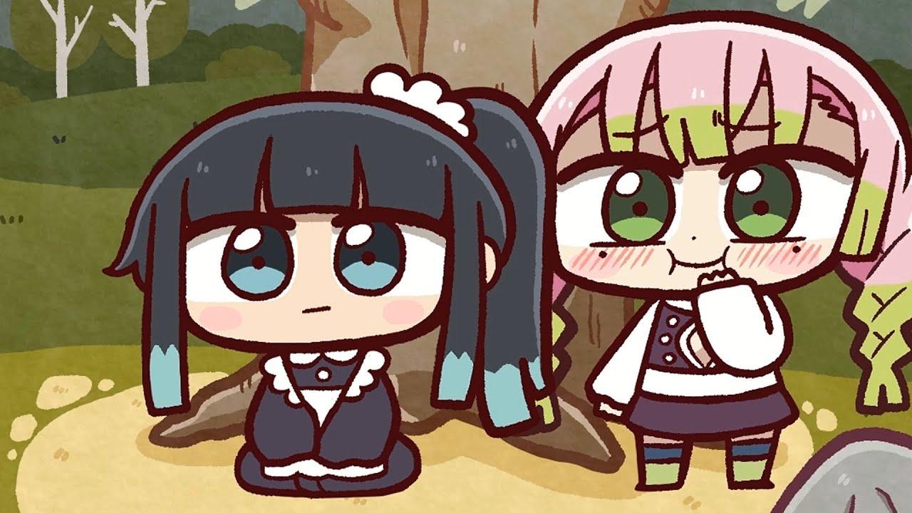 Download 귀멸의칼날: 무이치로 여장 시키는 미츠리 (Kimetsu no Yaiba: Mitsuri dresses Muichiro in women's clothes)