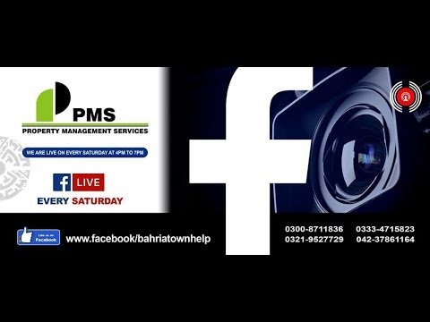 Live program about Bahria town Lahore properties by PMS on 08 Oct 2016