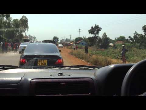 Fidel Odinga Convoy From Kisumu to Bondo(UnEdited)