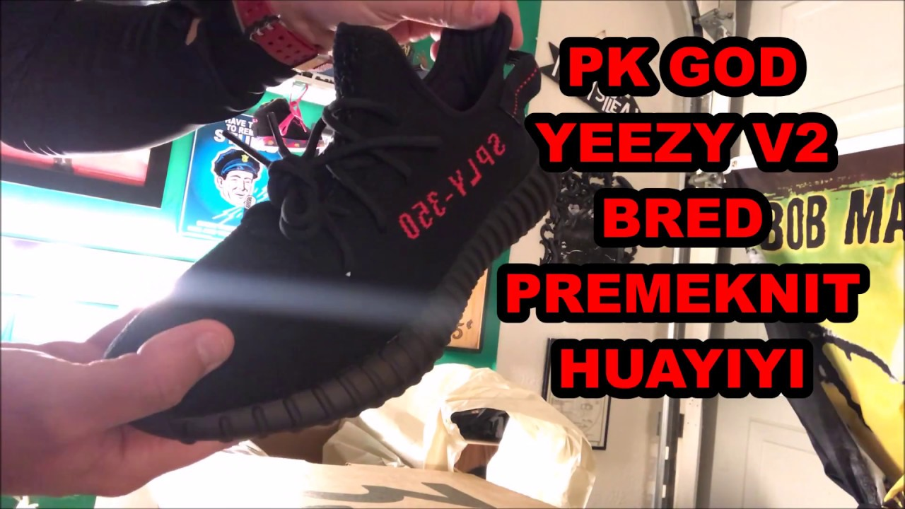 aa0a3d767 Review  PK GOD YEEZY 350 V2 BRED PREMEKNIT HUAYIYI!!! - YouTube