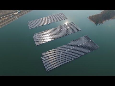 Phantom3 pro 4K, solar power plant