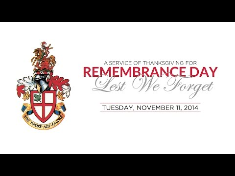 St. George's School Remembrance Day 2014