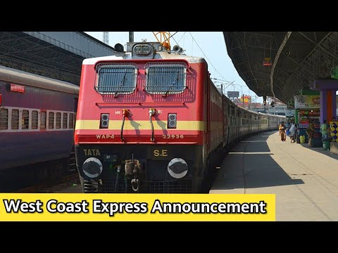 West Coast Express Announcement at Chennai Central   Indian Railway Announcements