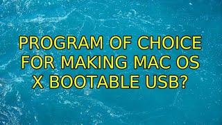 Ubuntu: Program of Choice for Making Mac OS X bootable USB?