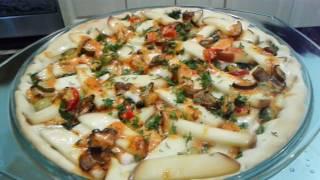 ПИЦЦА ! Сочная Пицца с Куриным Мясом. Пицца с Колбасой и Копченым Сыром .