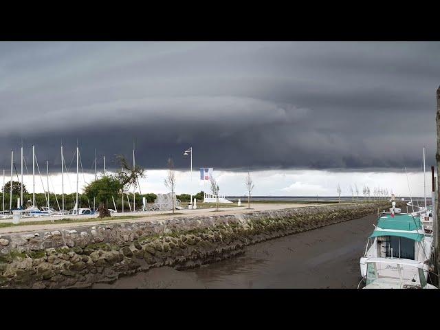 Diaporama d'un orage au port d'Audenge Bassin d'Arcachon