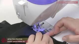 Способ обработки проймы косой бейкой из шифона