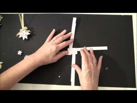 tutorial how to make a swedish paper star christmas tag and ornament - How To Make Scandinavian Christmas Tree Decorations