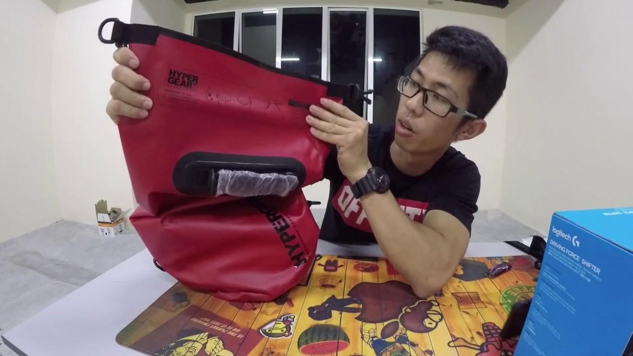 2ac2d948566 HYPERGEAR 20L WATERPROOF BAG (RED) - YouTube