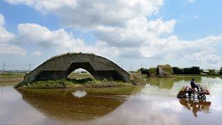 記憶の風景 戦後70年 水田に映す戦闘機の面影 千葉・香取基地跡の掩体壕