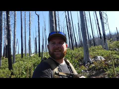 Hiking In To A High Mountain Lake: OREGON CASCADES Fishing