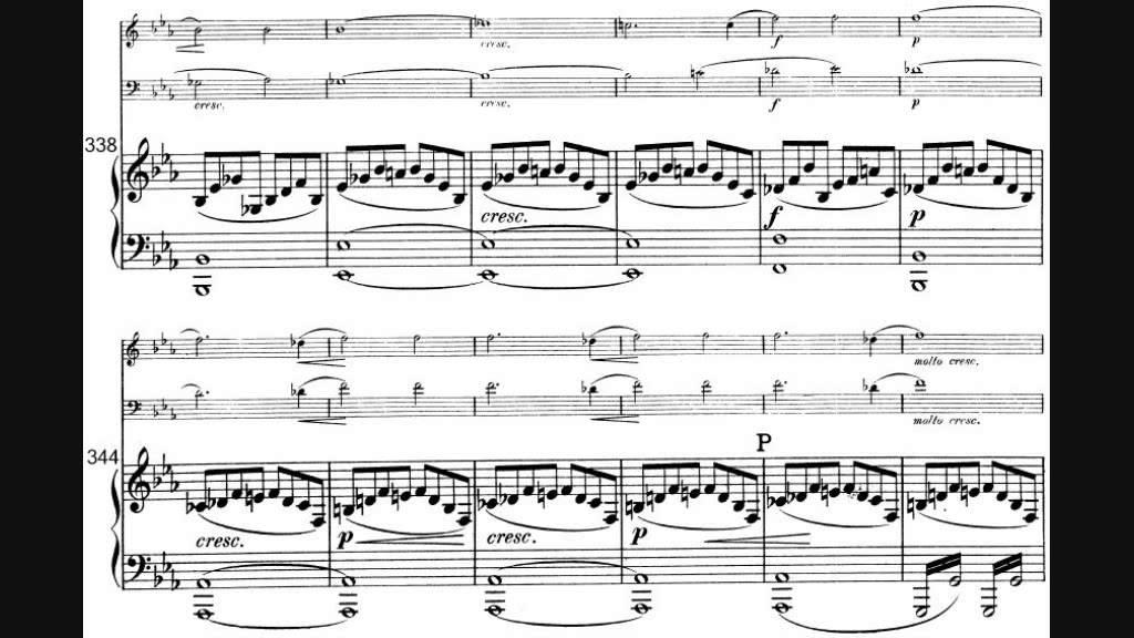 Piano piano trio sheet music : Felix Mendelssohn - Piano Trio No. 2 in C minor - YouTube