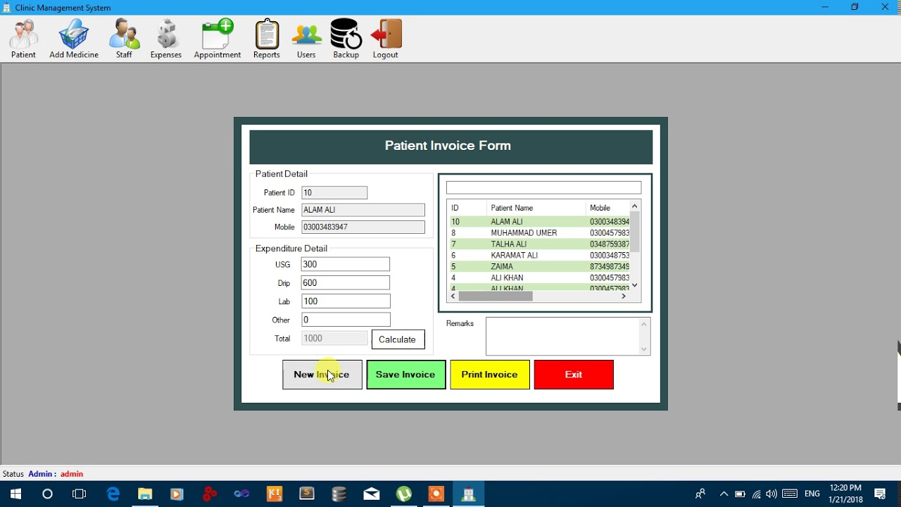 Clinic Management System C# MS-Access With Source Code