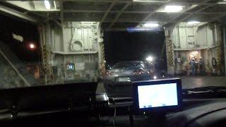 小樽港上陸の瞬間、GTRの次に下船
