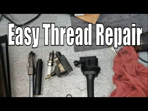 How to repair stripped spark plug threads PERMANENTLY