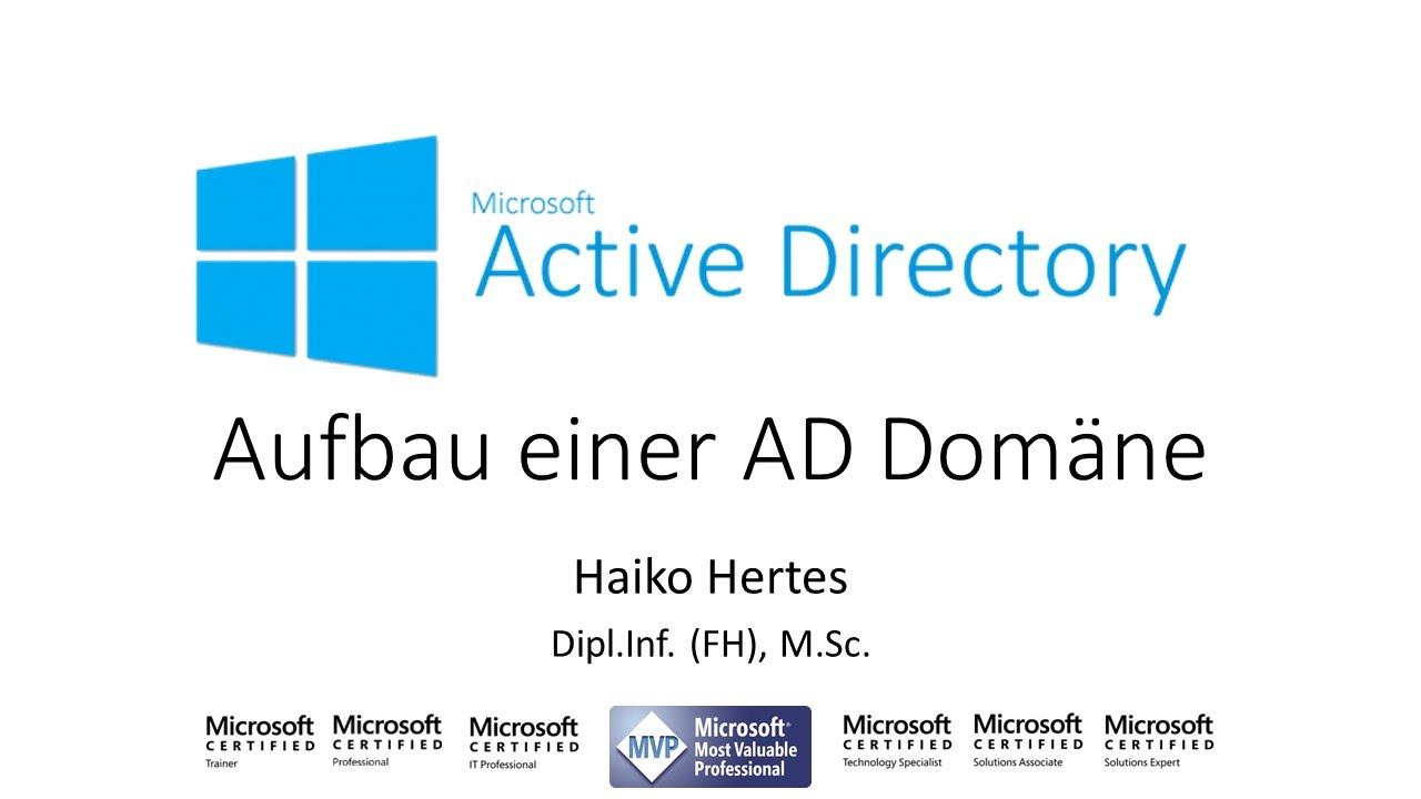 Windows Server 2016 Aufbau Einer Active Directory Domäne Ad Youtube