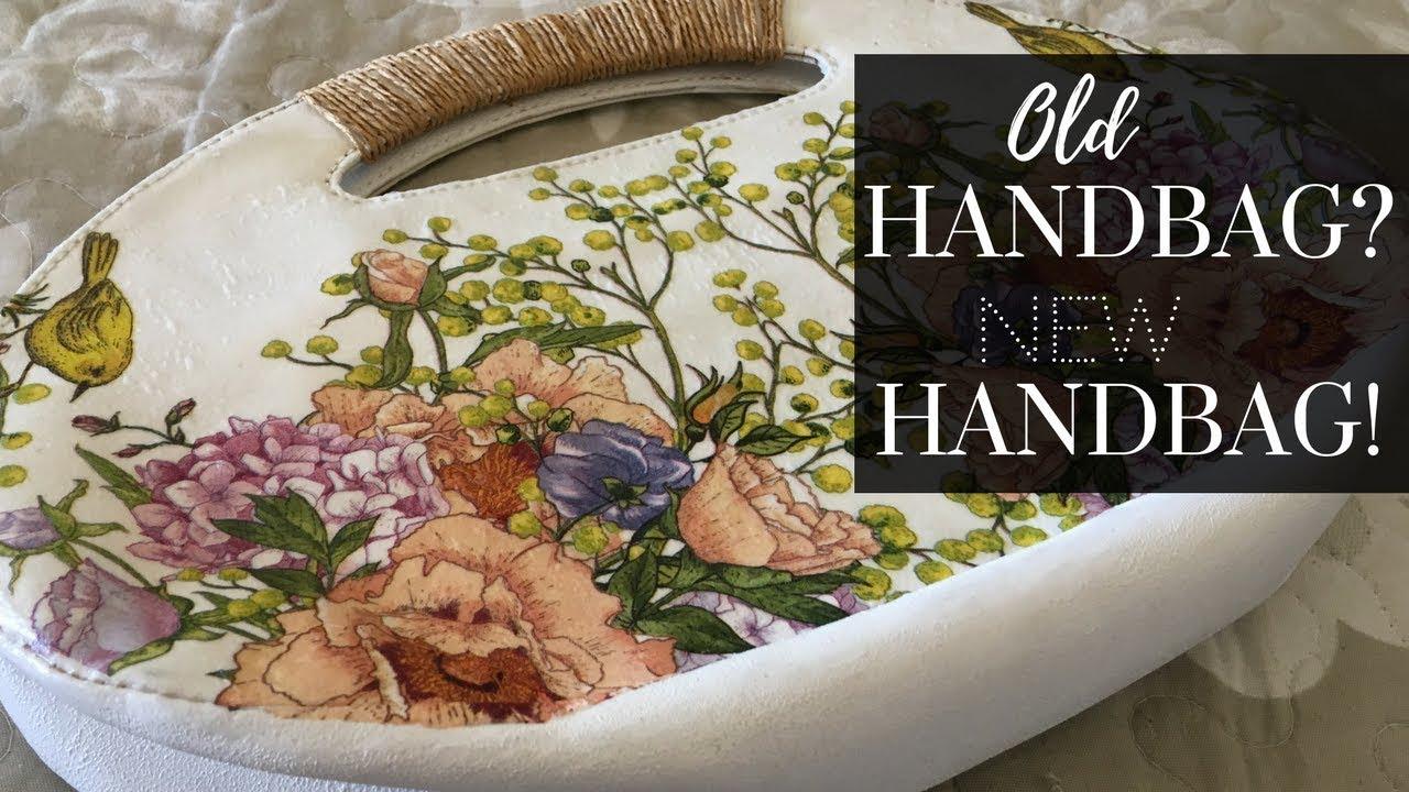 DIY Decoupage your Handbag!!