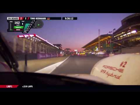Sunrise at the 24h Le Mans 2017 - Porsche 919 Hybrid #2 onboard