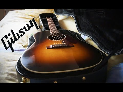 Opening up a Gibson J45 Standard!! w/ sound test