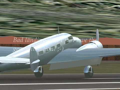 My very first landing with the Lockheed L10 Electra (in developement)