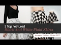 5 Top Featured Black And White Plaid Skirts Amazon Fashion, Winter 2017