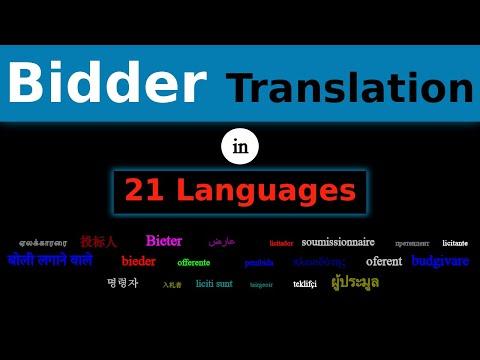 BIDDER Translation in 21 Languages