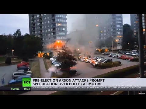 Sweden struck by coordinated arson attacks 3 weeks before elections
