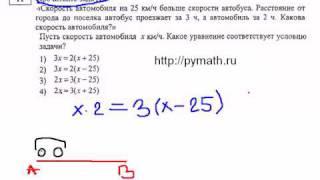 ГИА 11.Скорость автомобиля. Математика видео.