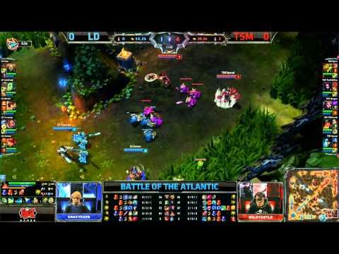 League of Legends - Battle of the Atlantics - Team Solomid (TSM) vs Lemondogs (LD) - Game 1