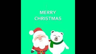 크리스마스카드 산타+곰