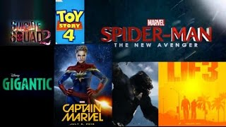 Upcoming Movies 2018-2022