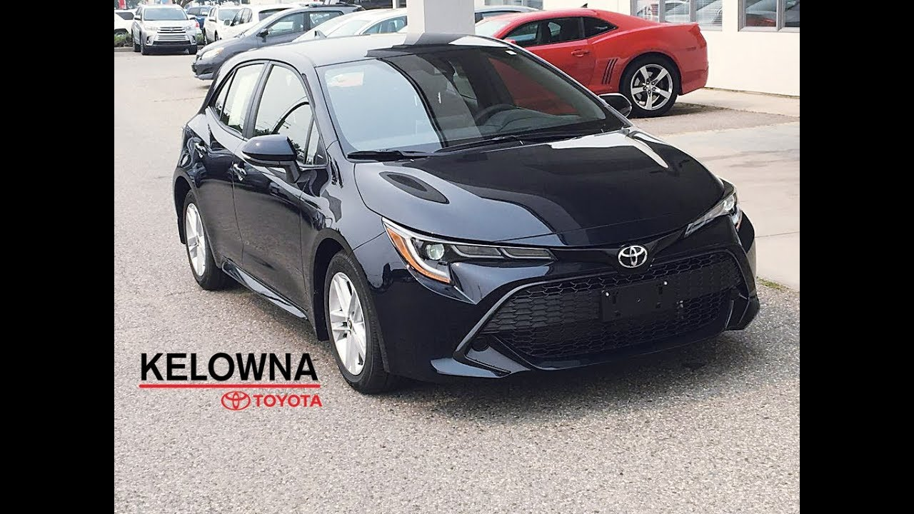 2019 Toyota Corolla Se Hatchback Galactic Blue Auto Youtube