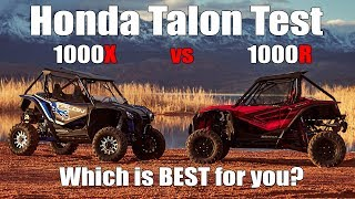 Honda Talon Test Review 1000R vs 1000X  Comparison, Which is Best for You?