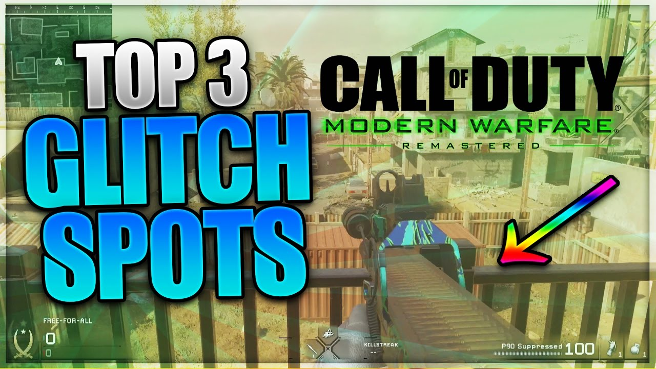 Cod4 Mwr Top 3 Working Glitch Spots Secret Spots Area