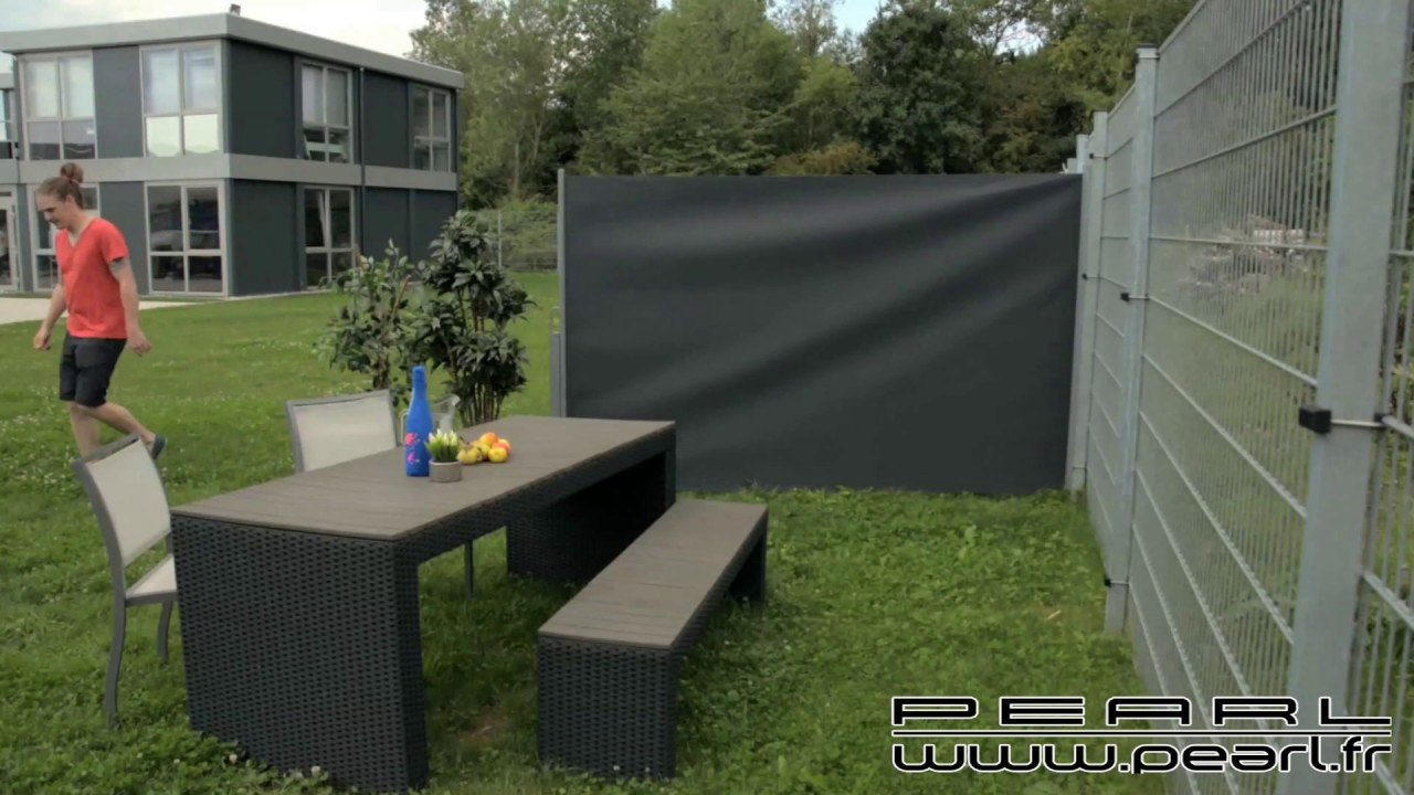 NX5211 - Brise-vue déroulable 180 x 300 cm - gris anthracite - YouTube