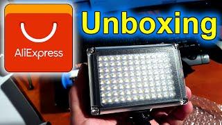 AliExpress Unboxing video LED světlo | video led light | česky nákup z Číny