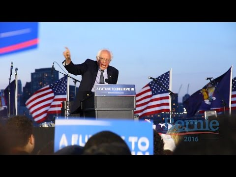 Bernie Sanders - A Future To Believe In GOTV Rally in Long Island City - 18th April 2016