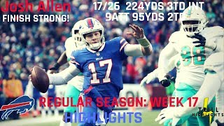 Josh Allen Week 17 Highlights | 5TDs 12.30.2018