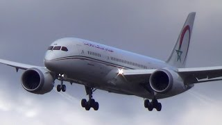 Royal Air Maroc family landing: Boeing 787-8, 767, 737