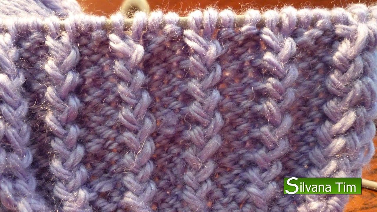 Punto el stico frances tejido con dos agujas 11 youtube - Tipos puntos dos agujas ...
