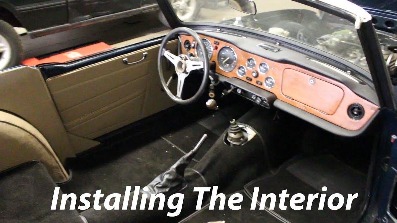 1973 Triumph Tr6 Restoration Part 33 Carpet And Leather Youtube