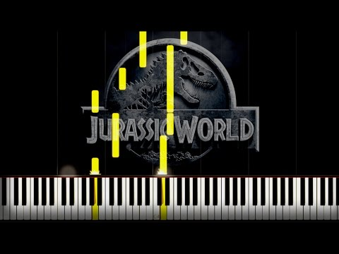 Jurassic World Theme / Piano Tutorial [Synthesia & Free Sheet]