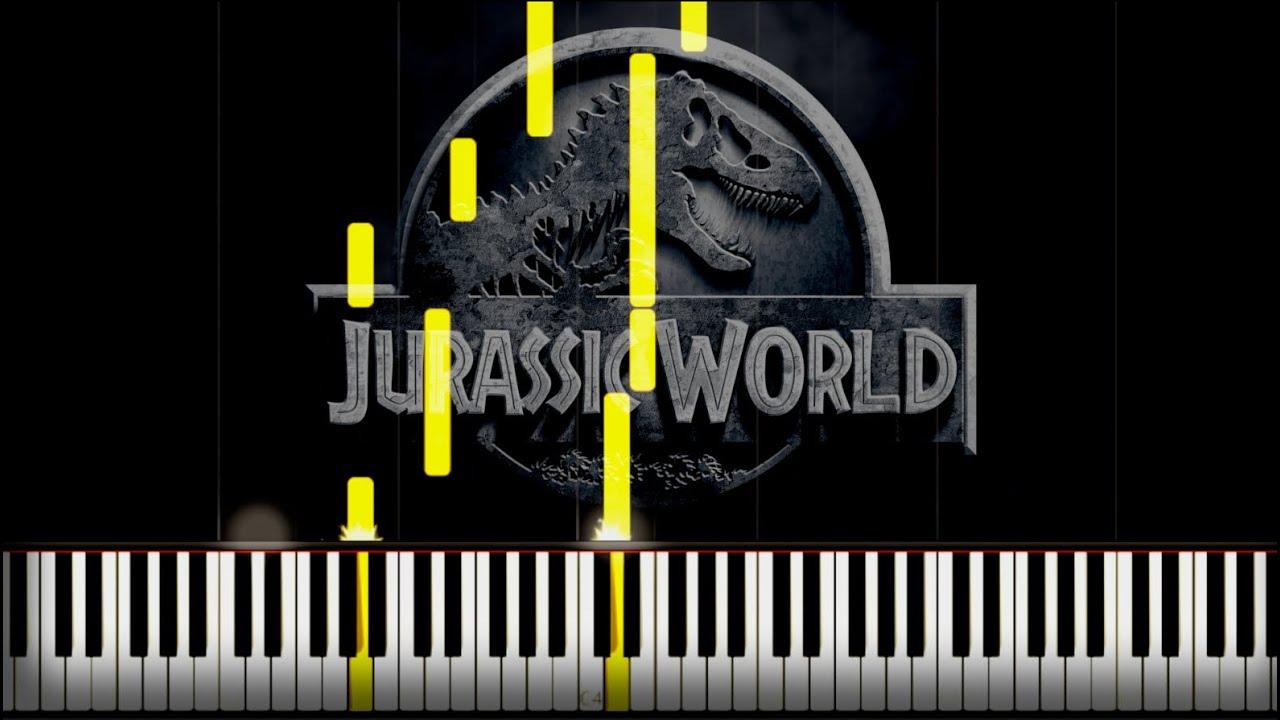 Jurassic World Theme Piano Tutorial Synthesia Free Sheet Youtube