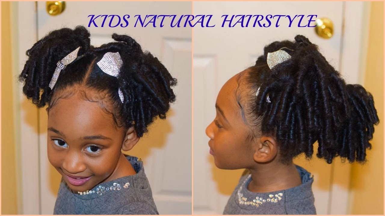 Natural Hair Styles Kids: KIDS NATURAL HAIRSTYLES: The Curly Puffs (Quick And Easy