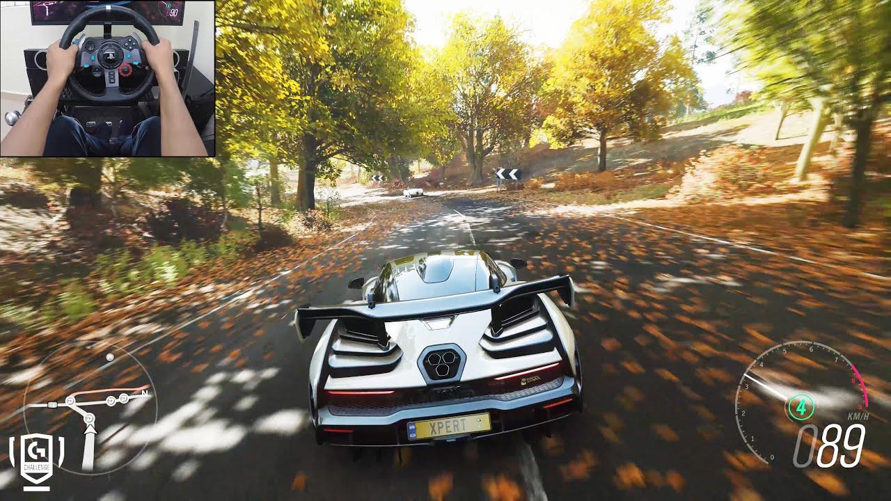 McLaren Senna - Forza Horizon 4 | Logitech g29 gameplay thumbnail