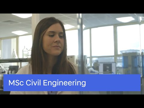 Study our MSc Civil Engineering