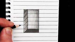 How to Draw a 3D Hole on Line Paper: Easy Trick Art マクファーソン 検索動画 29